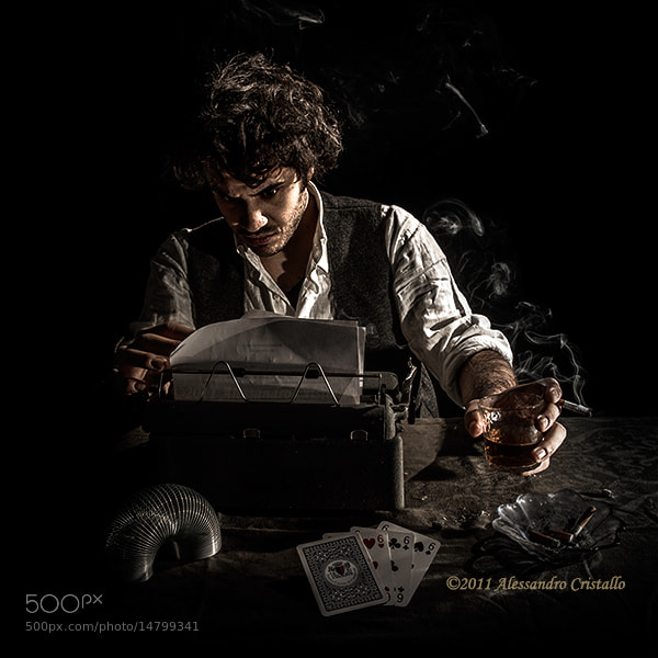 Photograph Smoking writer by Alessandro Cristallo on 500px