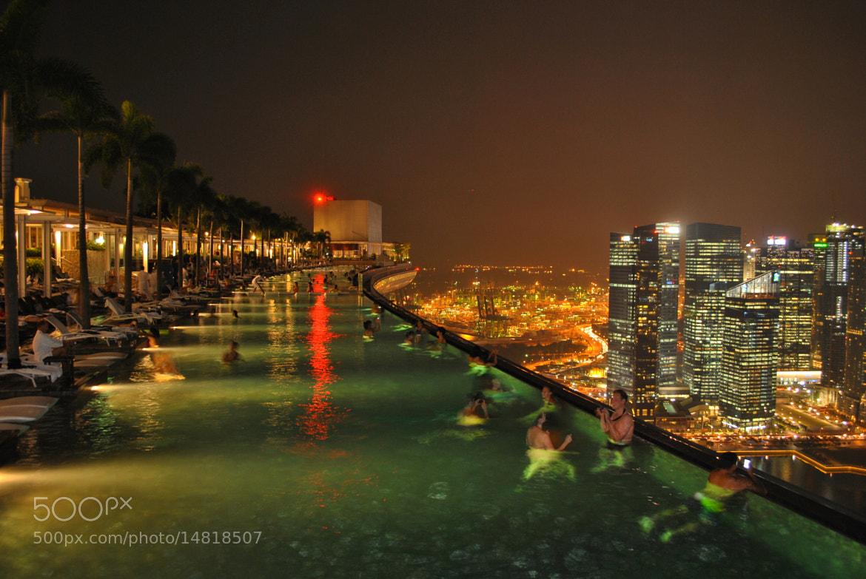 Photograph Infinity Pool Marina Bay Sand Singapore By