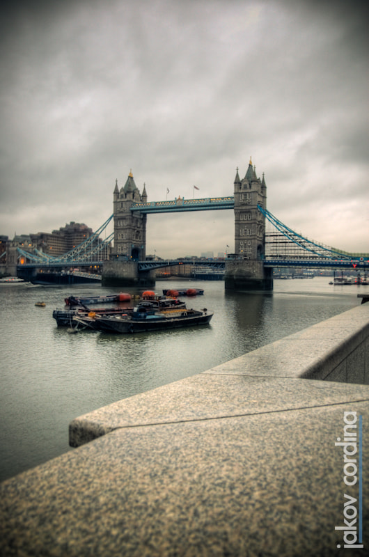 Photograph Tower Bridge and Barges HDR by Jakov Cordina on 500px