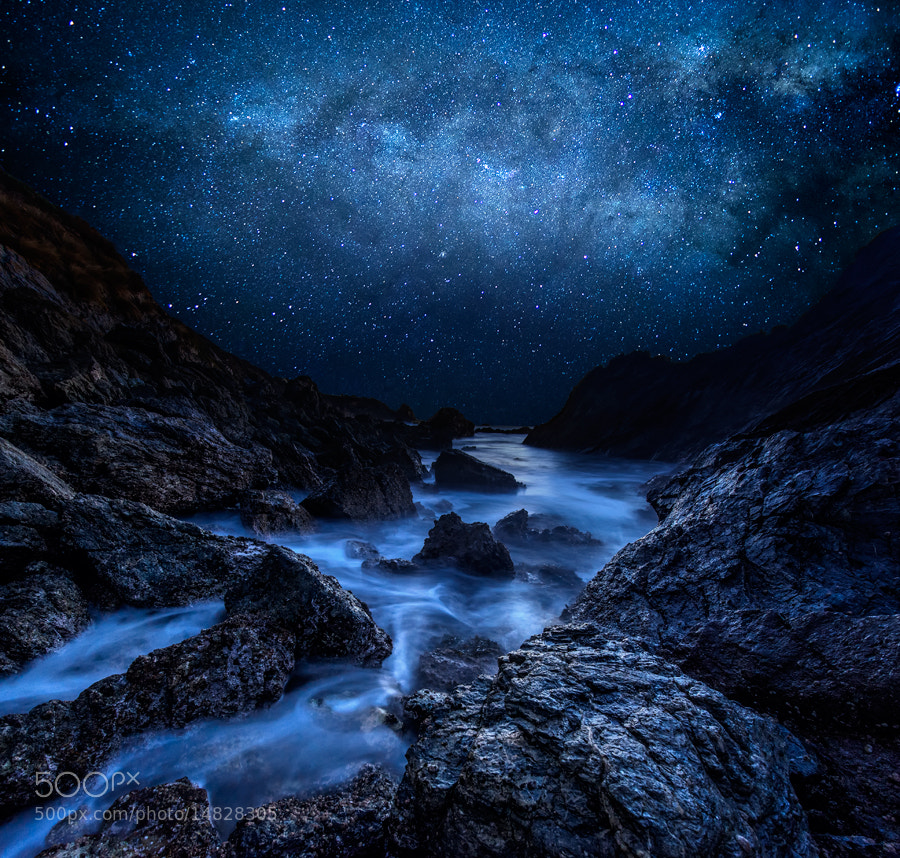 Photograph Cyan Starry Night by AtomicZen : ) on 500px
