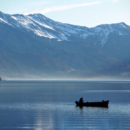 Fishing with beautiful view