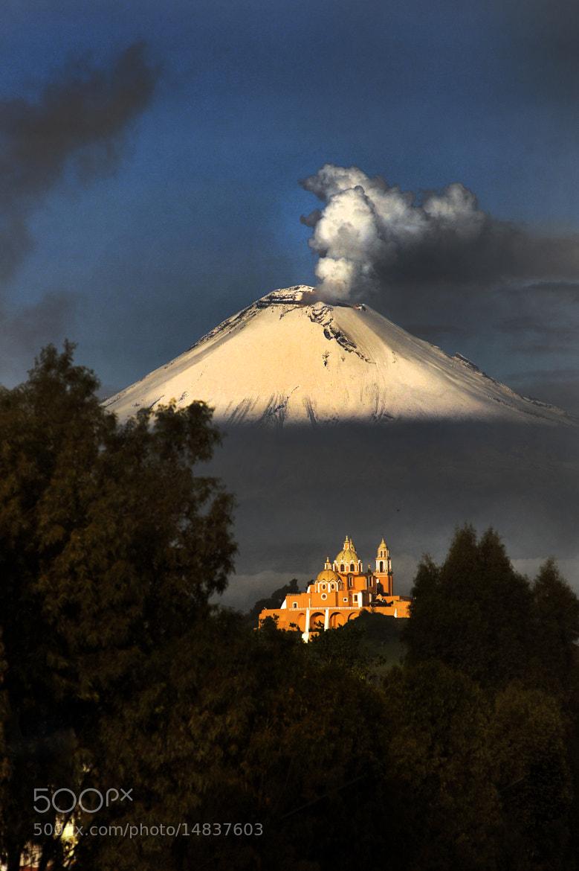 Photograph Church and Popocatepetl by Cristobal Garciaferro Rubio on 500px