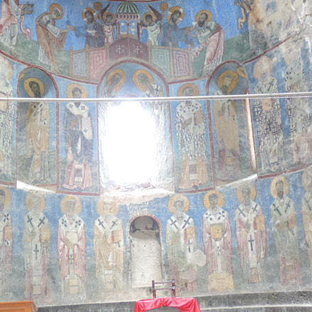 Murals Akhtala monastery(Armenia)