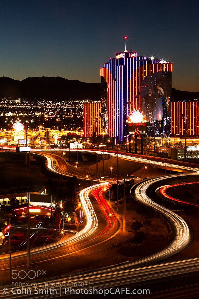 Photograph Vegas Light Trails by Colin Smith on 500px