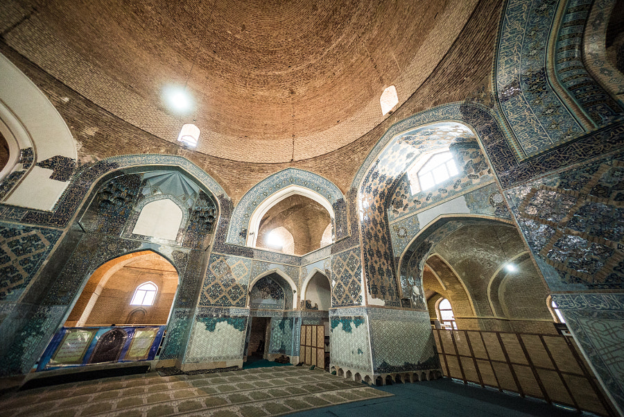 Interior of Blue Mosque, Tabriz by Kamran Ali on 500px.com
