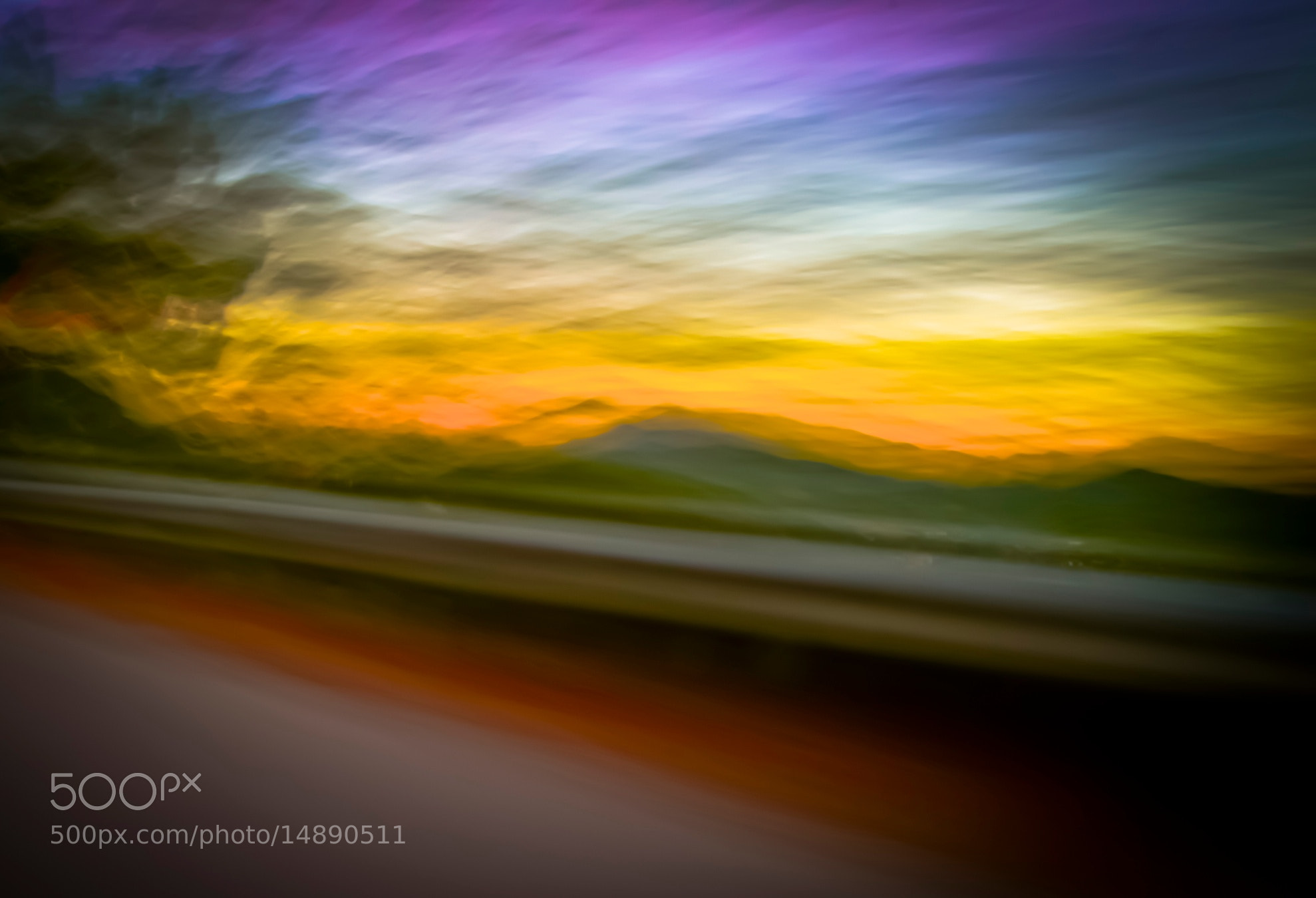 Photograph Mountain sunset from a moving car by Rosario Manzo on 500px