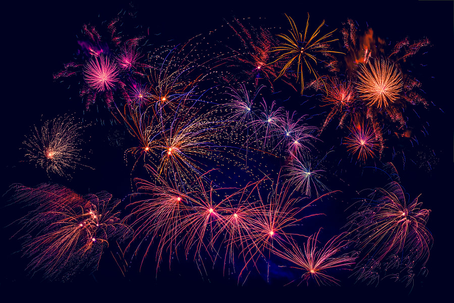 Fireworks in beautiful colors by Kasper Nymann on 500px.com