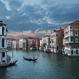 Venetian sunset by Carlos Luque (clgam)) on 500px.com