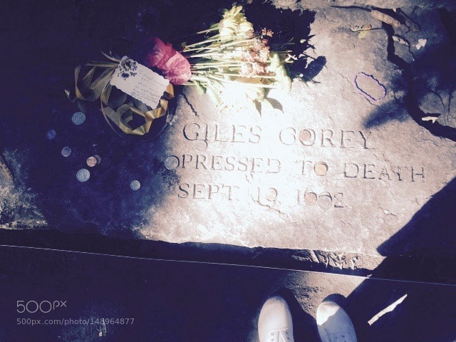 Giles Corey, Pressed to