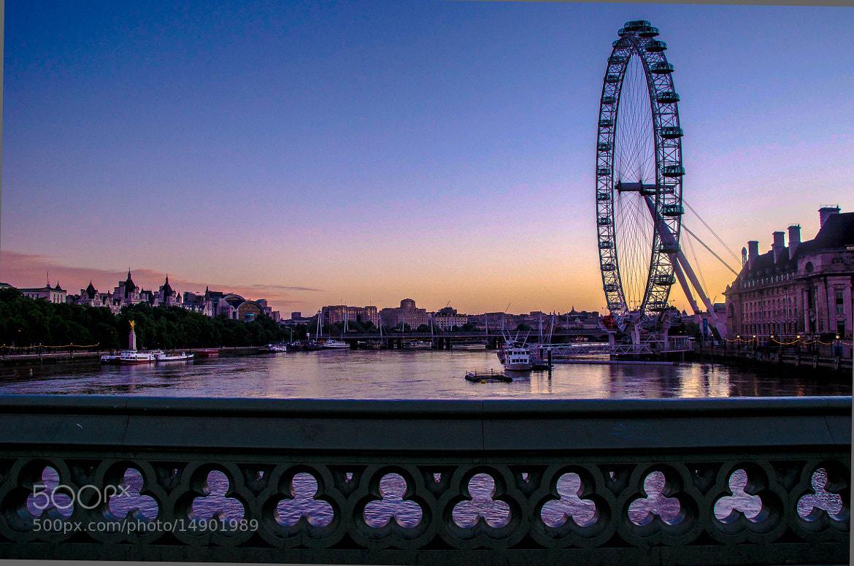 Photograph The London Eye at dawn by julian john on 500px