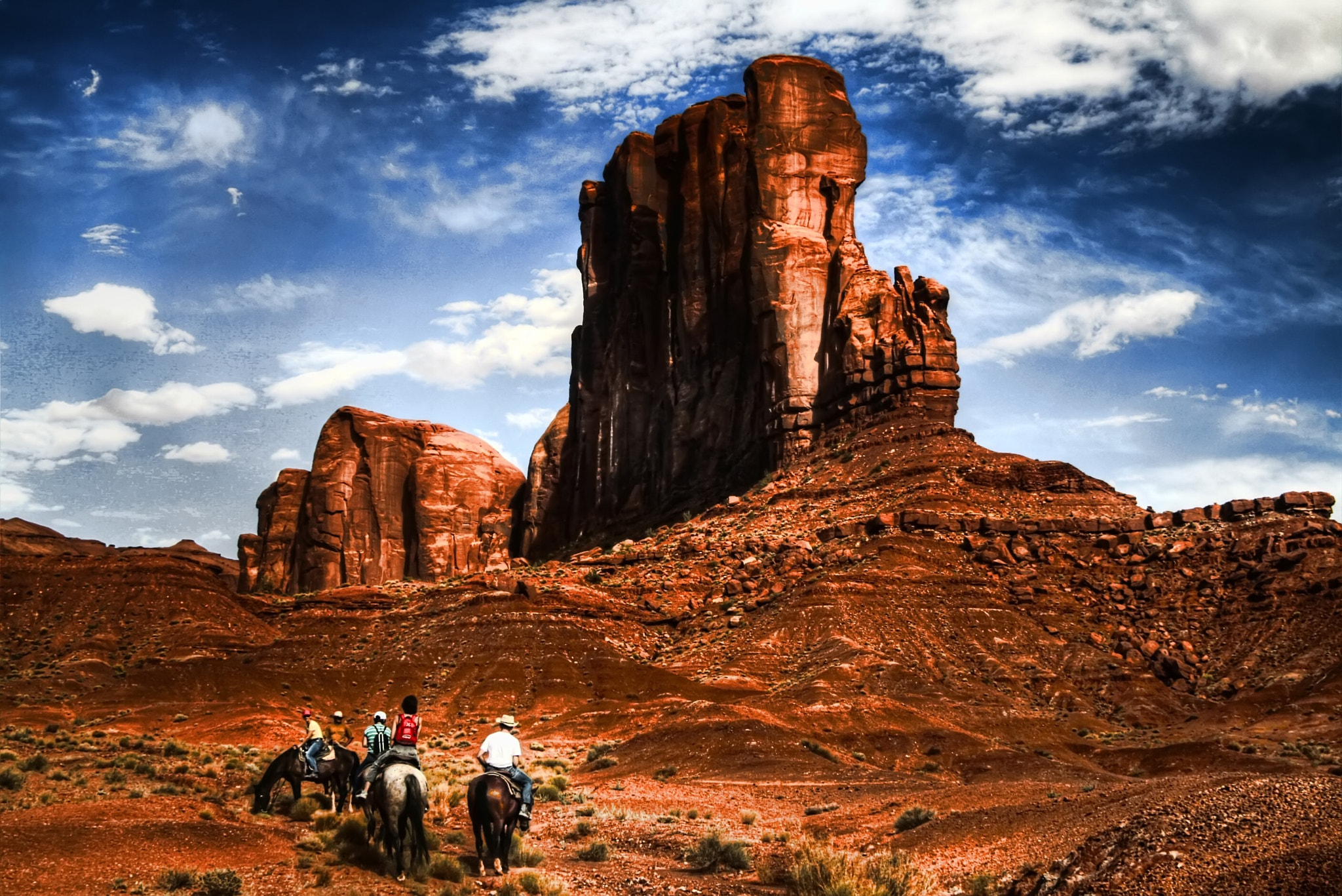 Photograph Cowboys in the Monument Valley by Marco Caciolli on 500px