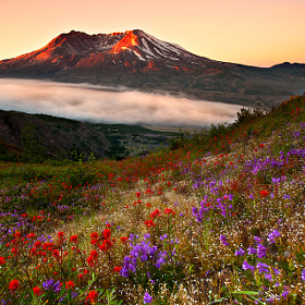 St. Helens Sunrise by Kevin  Pieper (Kevin_Pieper)) on 500px.com
