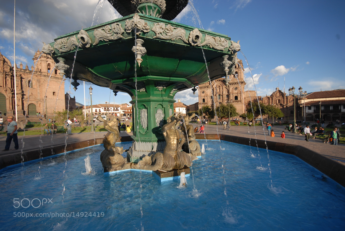 Photograph Fountain Plaza Cusco Peru by Miluska Pareja on 500px