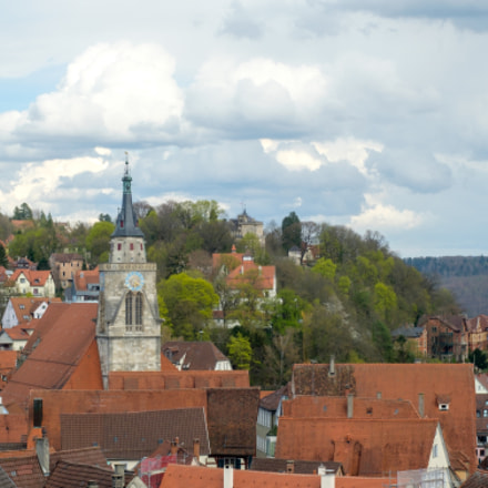 View over Tübingen Altstadt from the Schloss