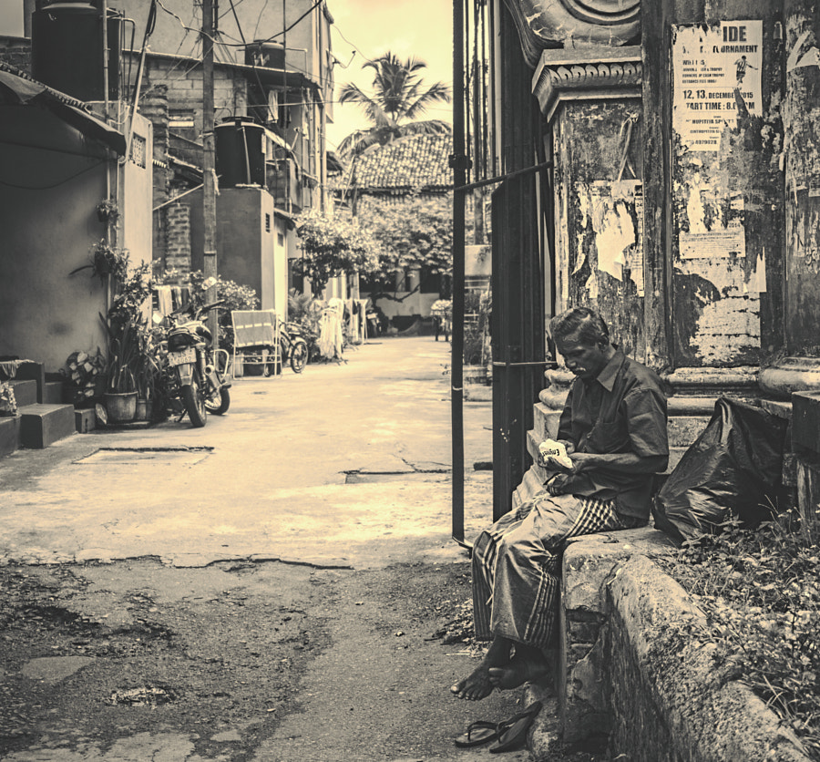 Gintupitiya Street (b/w) by Son of the Morning Light on 500px.com