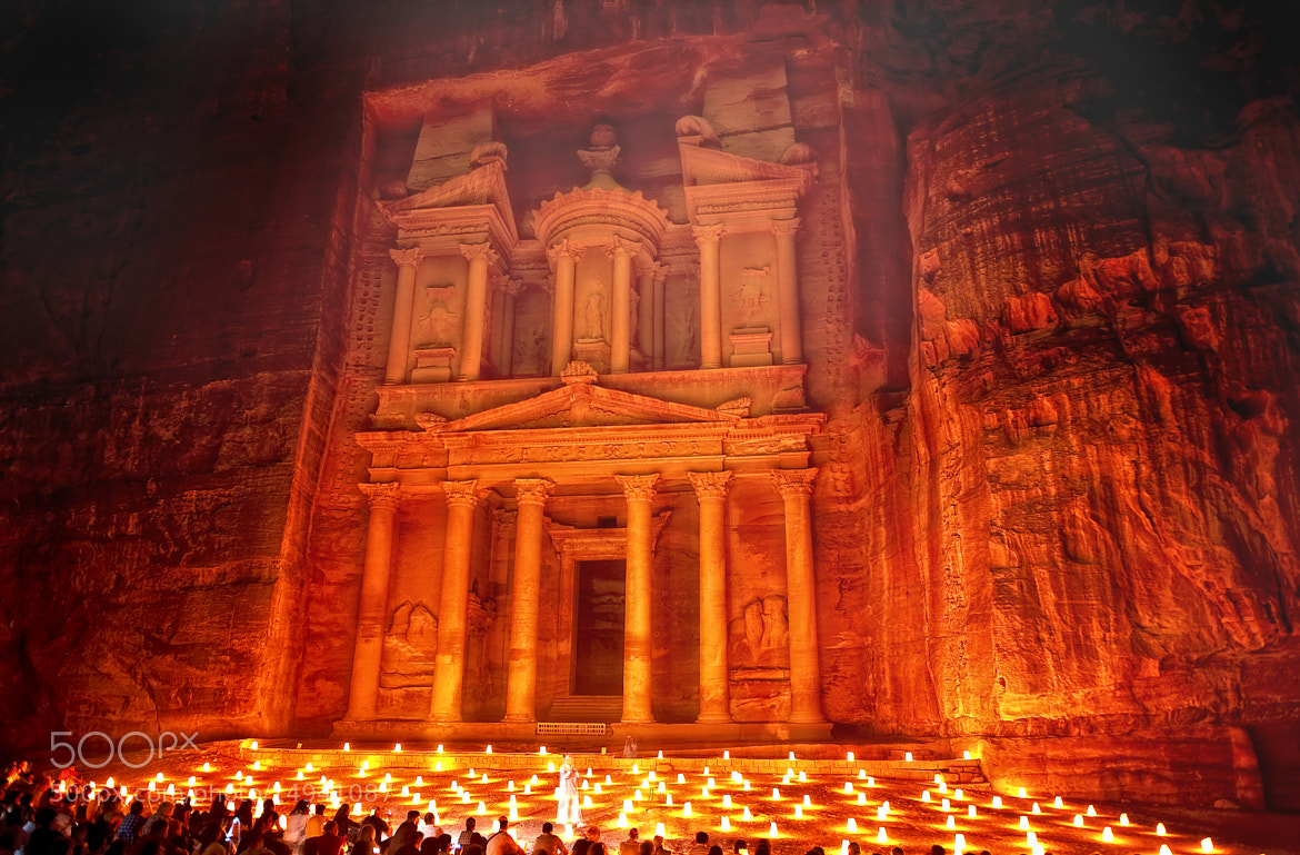 Photograph Petra by Night. The Treasury, Al Khazneh. Petra Archaeological Park. Jordan 2010 © Nora de Angelli / by Nora De Angelli on 500px