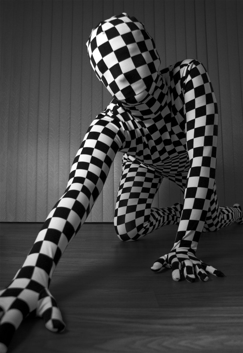 Photograph Checkered zentai by Ian Roberge on 500px