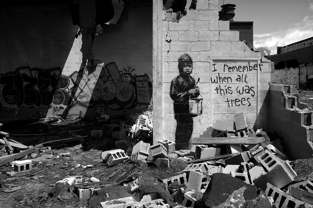 Photograph Banksy in Detroit (2010) by Brian Day on 500px