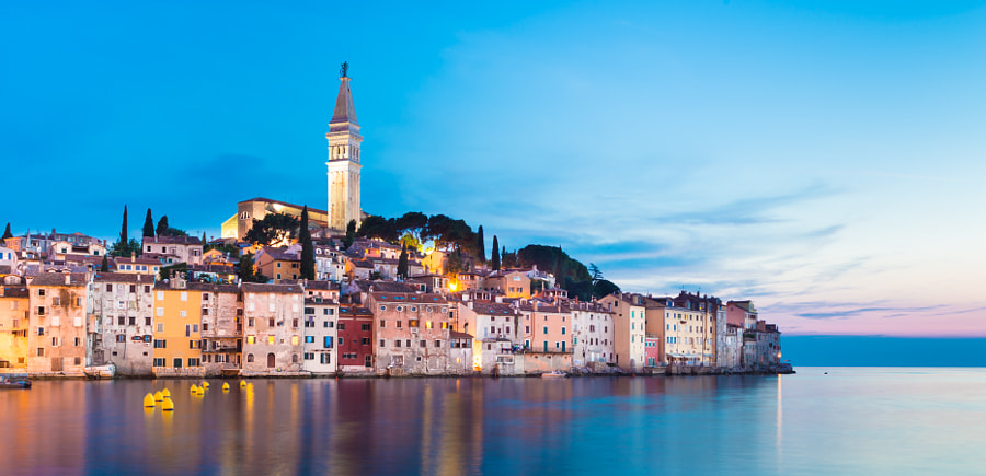 Coastal town of Rovinj, Istria, Croatia. by Matej Kastelic on 500px.com