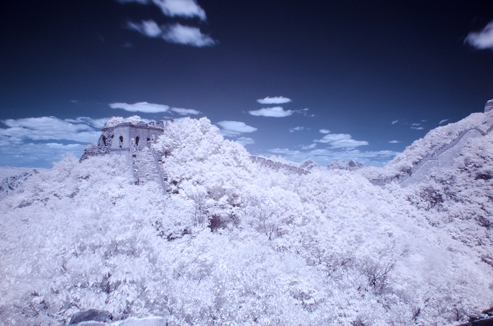 Photograph Jiankou Great Wall(infrared photography) by Isaac Si on 500px