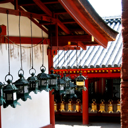 Lanterns in Nara, Canon POWERSHOT S230