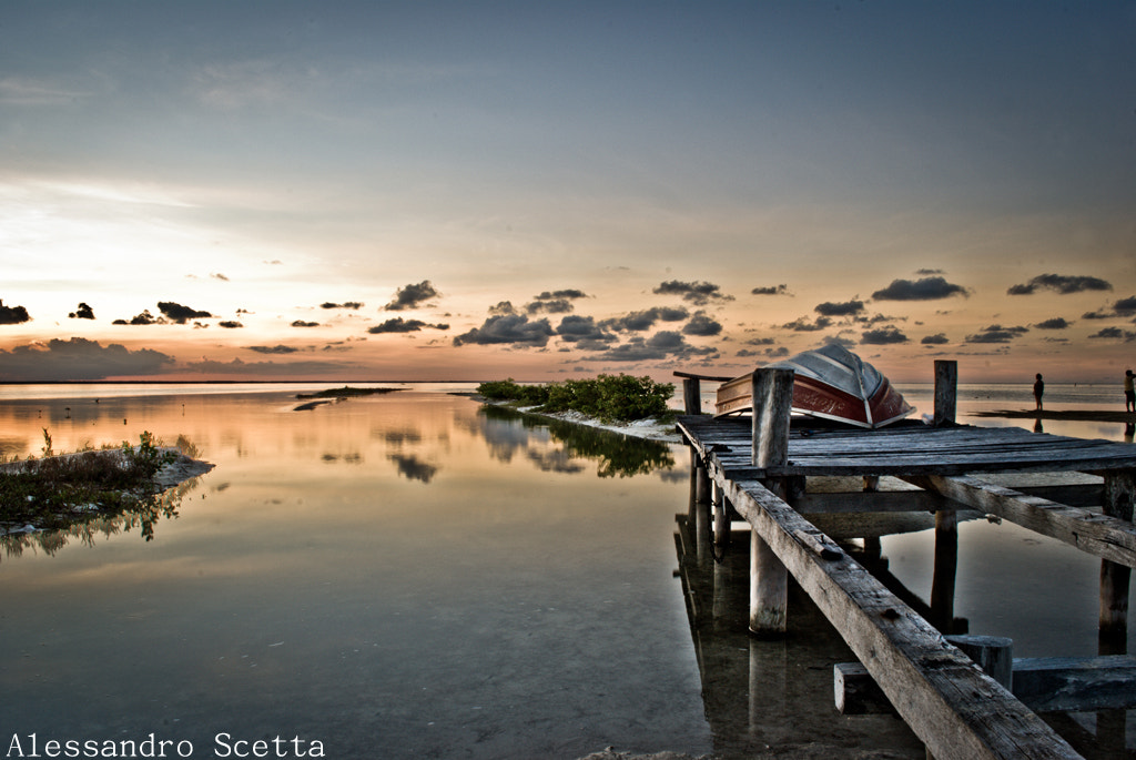 Photograph Sunrise at Isla Blanca, Cancun by AlesSandro Scetta on 500px