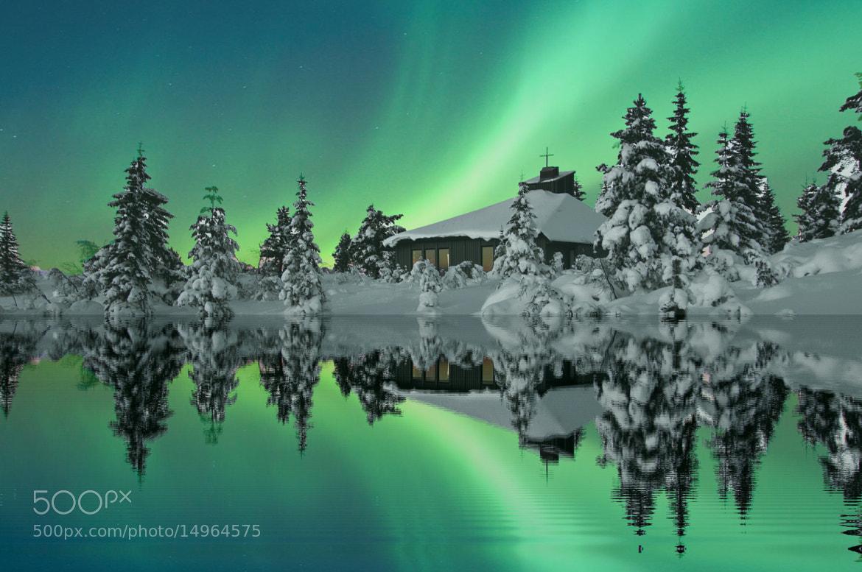 Photograph Ble Sportskapell in aurora borealis by Odd Smedsrud on 500px