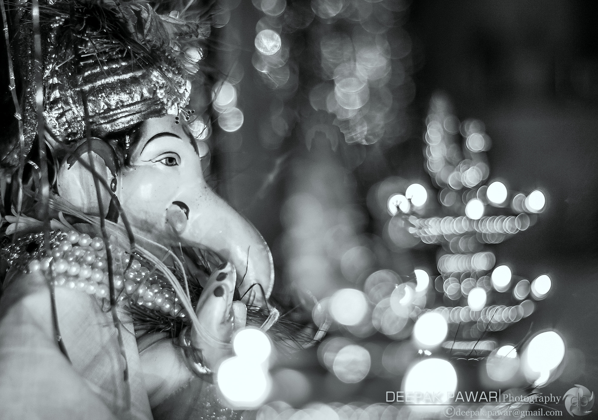 Photograph Ganesh idol and the lamps by Deepak Pawar on 500px