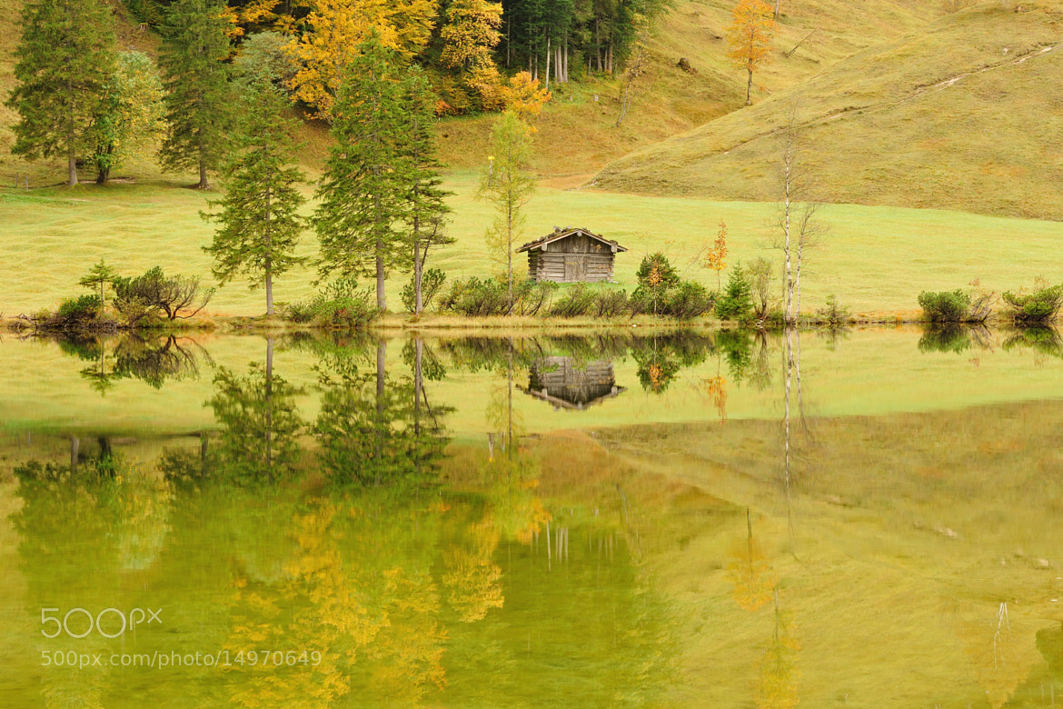 Photograph fall at a bavarian mountain lake by anniko  on 500px