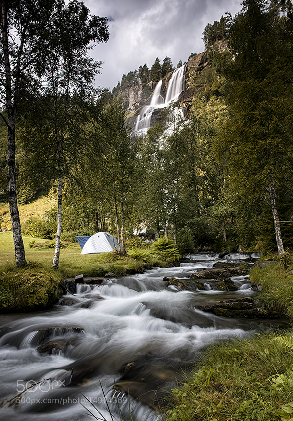 Photograph Camping unders the waterfall by Andrea Auf dem Brinke on 500px
