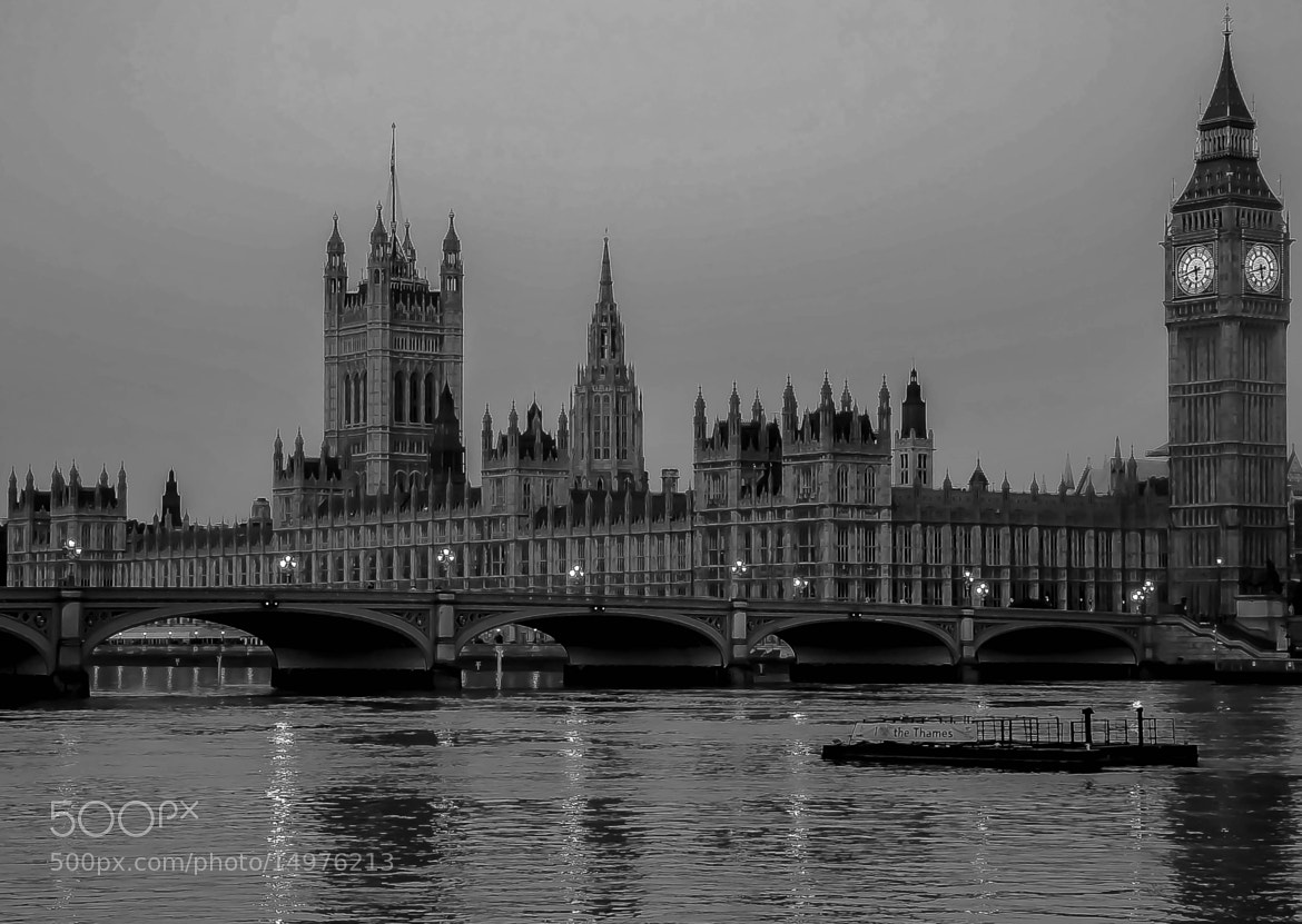 Photograph Houses of Parliament B+W by julian john on 500px