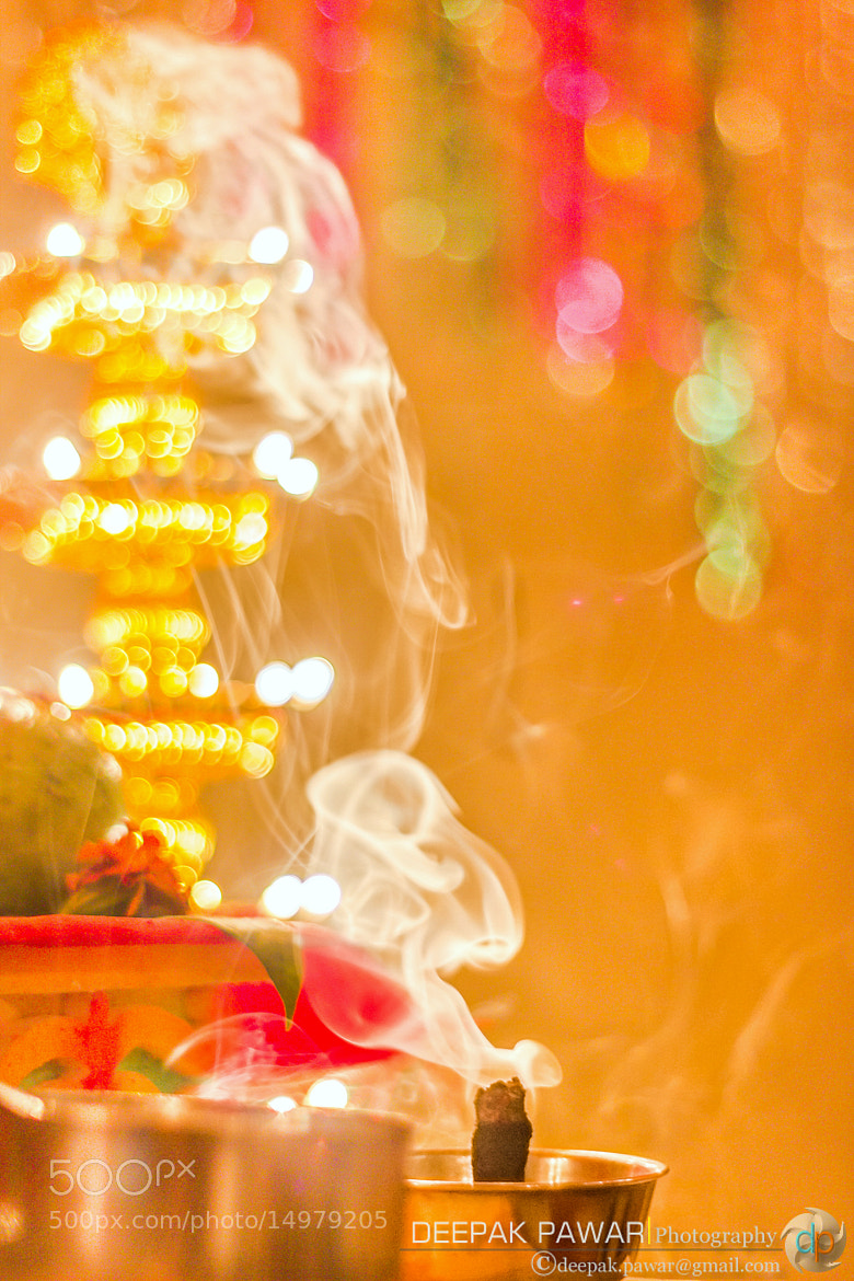 Photograph Some scents and lamps for the lord Ganesha by Deepak Pawar on 500px