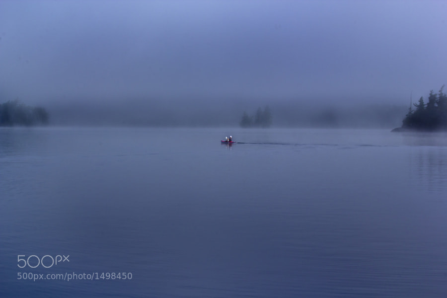 Kayaking on Blue Mountain Lake, NY