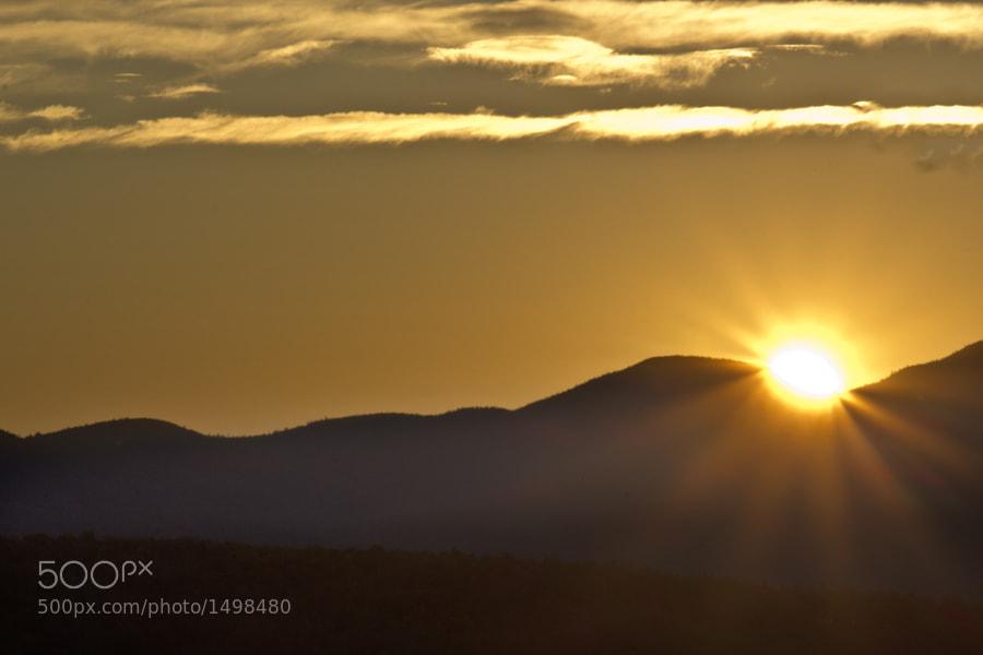 Sunrise in Blue Mountain Lake, NY