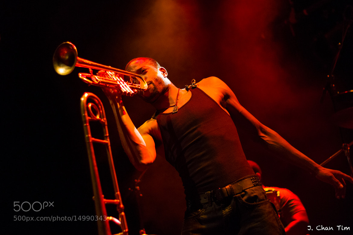 Photograph Trombone Shorty in Red by Julien Chan Tim on 500px