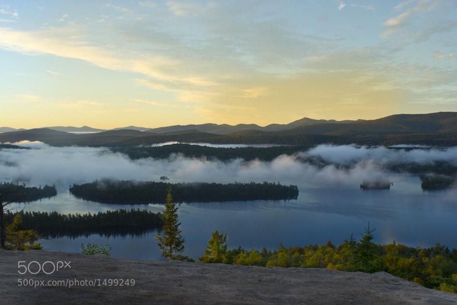 Sunrise on top of Castle Rock
