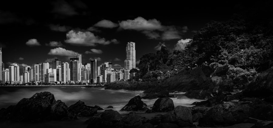 The rocks, the sea and the city