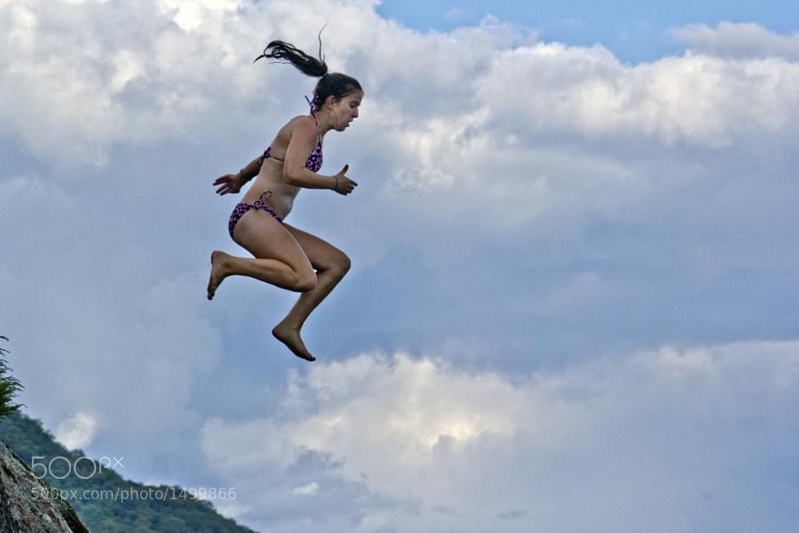 Jumping off Rock Island