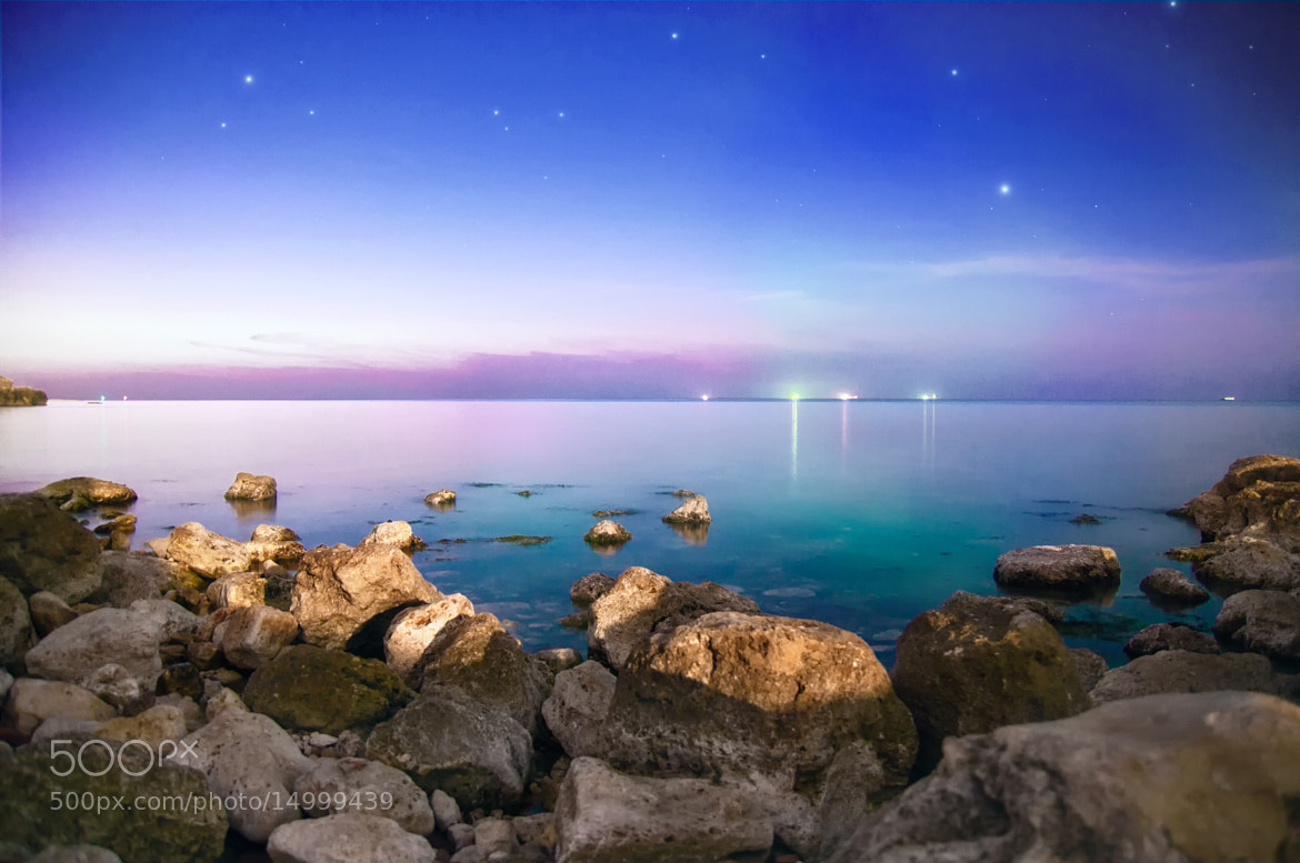 Photograph Night sea by Mix Foss on 500px
