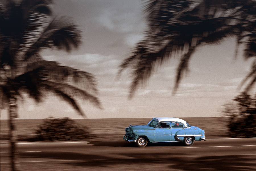 This image was snapped during a Mercedes Benz PR shooting on Cuba. by Andreas Lindlahr on 500px.com