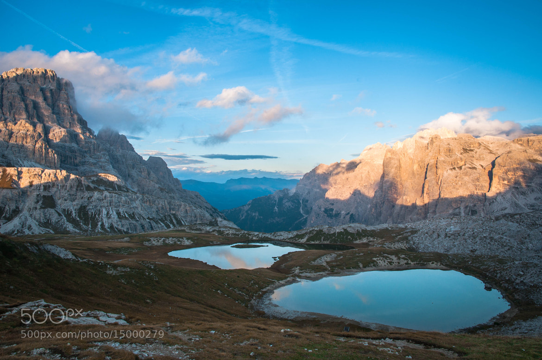 Photograph i laghetti e la nuvoletta...rosa! by Michele Fornaciari on 500px