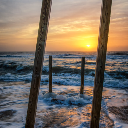 Sunrise Between the Pillars Landscape Photograph