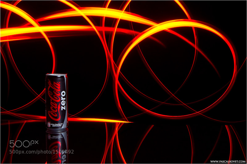 Photograph Light painting  - Coca Cola zero by Pascal Bovet on 500px