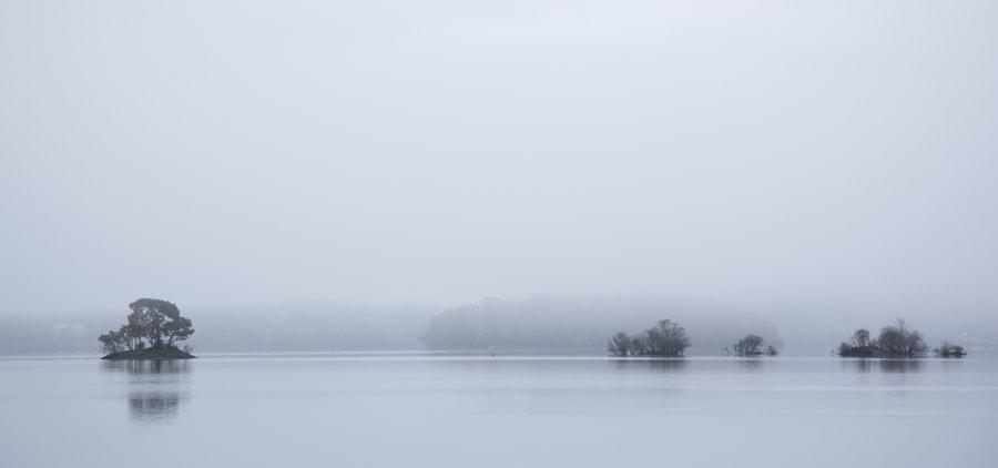 Misty Derwentwater islands