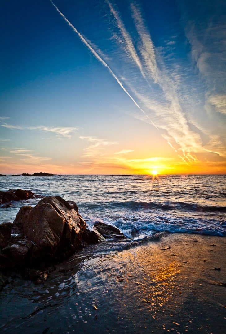 Photograph Sunset and the Californian Sea by Philipp Wedel on 500px
