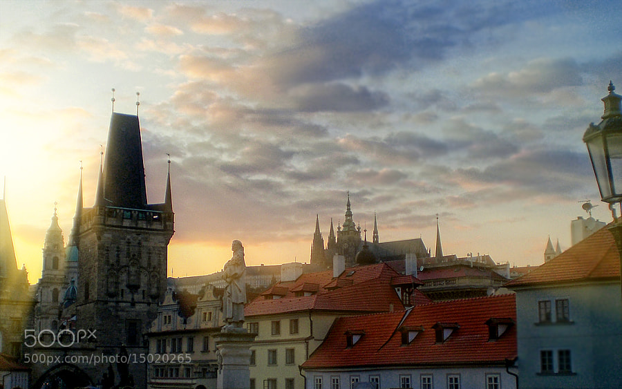Photograph Sunset on Charles Bridge by Kayman Studio on 500px