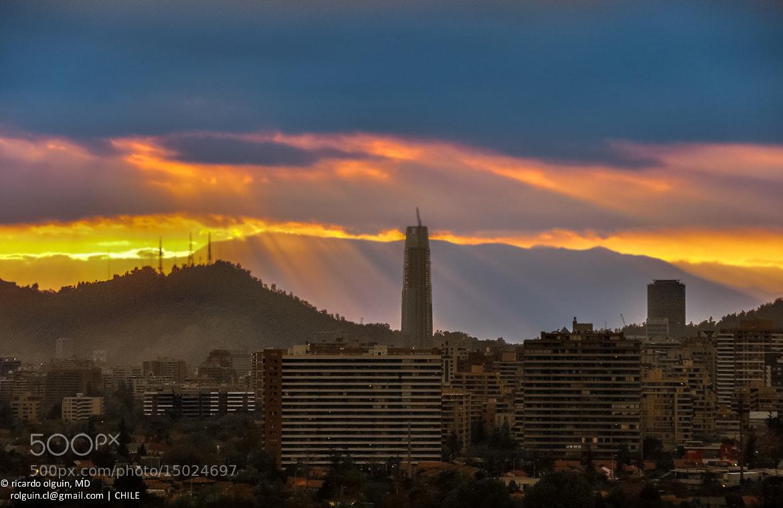 Photograph Santiago sunset by RICARDO OLGUIN, MD on 500px
