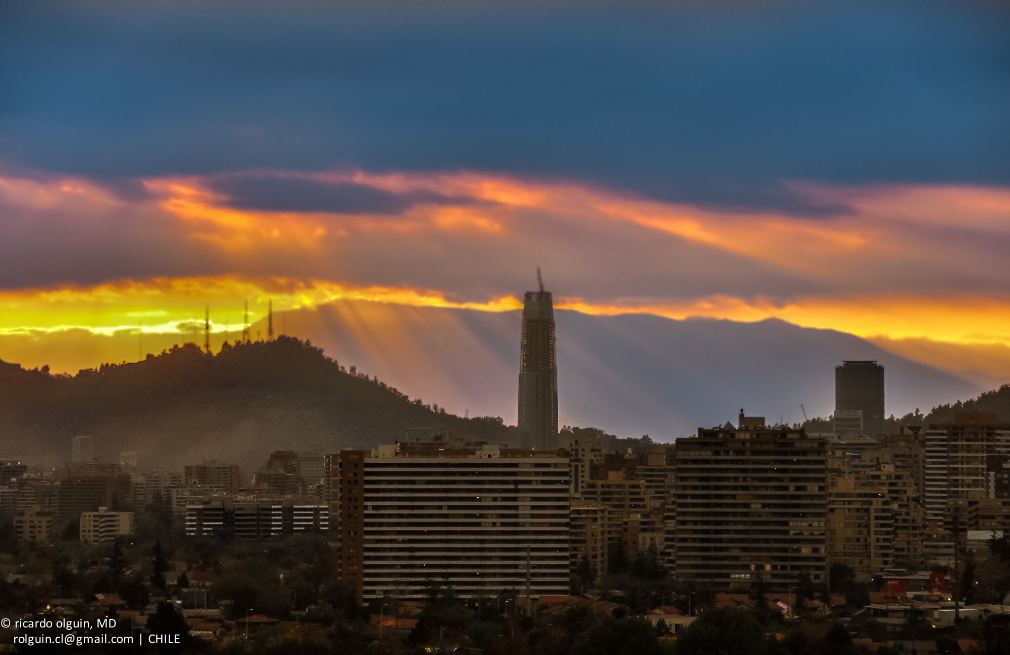Photograph Santiago sunset by RICARDO OLGUIN, MD on 500px