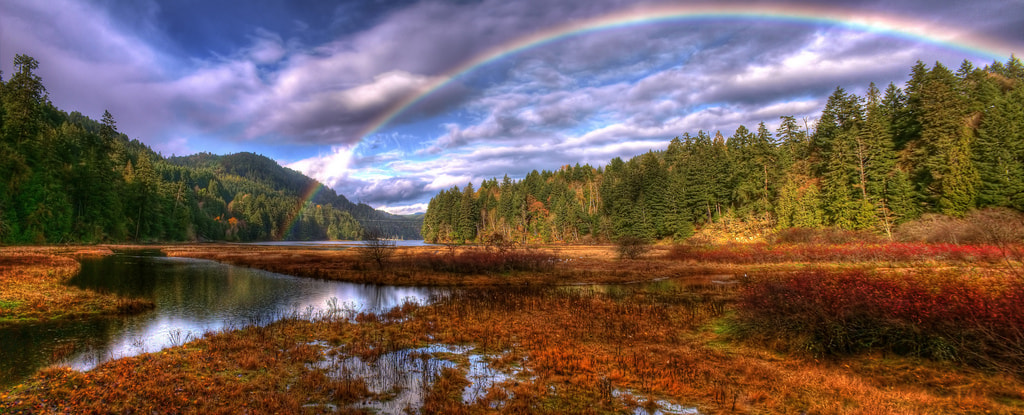 Photograph Rainbow Panorama by Brandon Godfrey on 500px