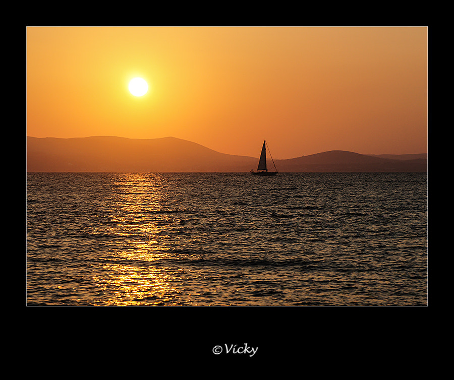 Photograph sailing  home in the sunset, Naxos by Vicky Dens on 500px